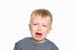 Leinwandbild Motiv Crying baby 3 years old