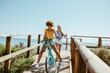 Leinwandbild Motiv Female friends enjoying on vacation