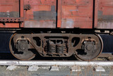 old broken train on the tracks