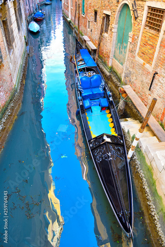 view of a canal in Venice Italy © maudanros