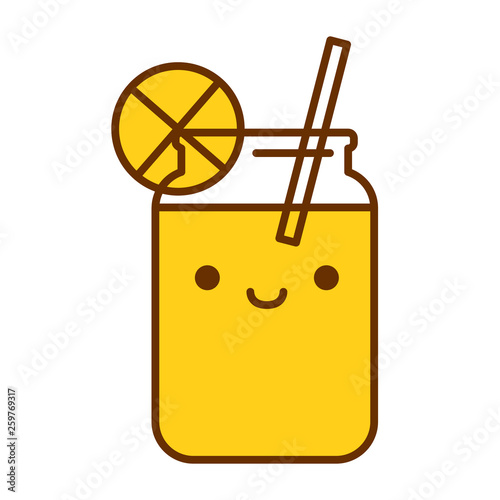 Cartoon Cute Lemonade Icon Isolated On White Background - 259769317