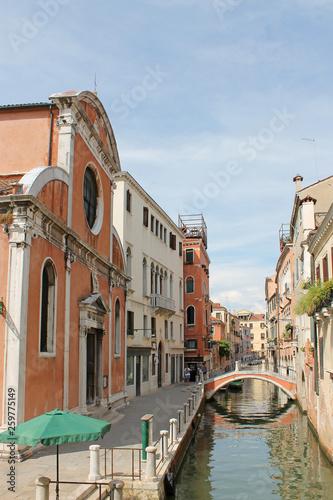 fototapeta na ścianę Narrow water channel in Venice Italy
