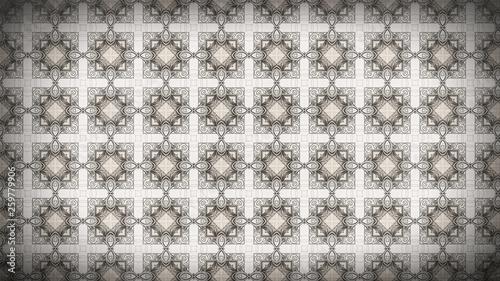 Vintage Floral Pattern Background Texture - 259779906