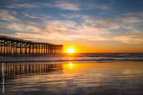 san diego pier at pacific beach © tomas del amo