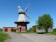 canvas print picture - Windmühle in Blender / Niedersachsen