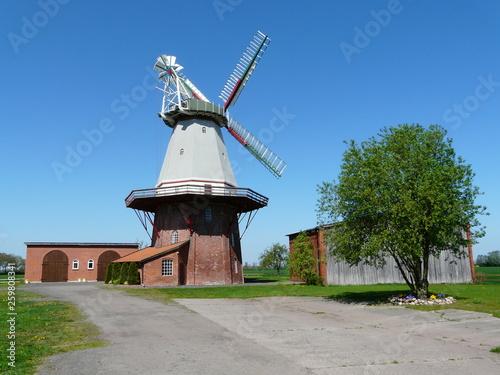 canvas print picture Windmühle in Blender / Niedersachsen