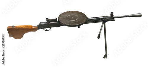 automatic rifle isolated on white background. automatic rifle from the Second World War © vitalily_73