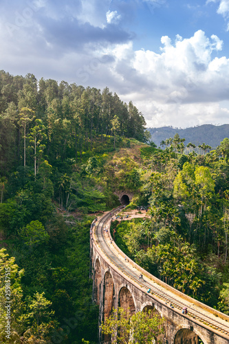 The Nine Arches Demodara Bridge or the Bridge in the sky is one of the iconic bridges in Sri Lanka. - 259857515