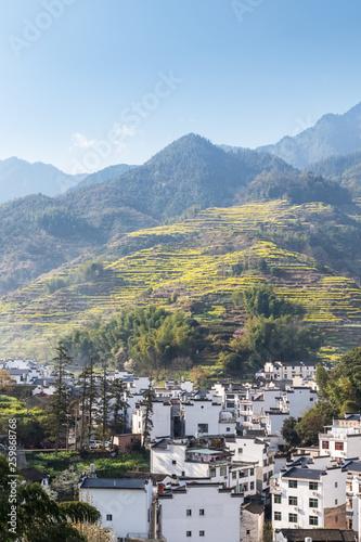 wuyuan mountain village in spring
