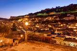 A charming view of Modica Sicily Italy at sunset