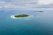 Leinwanddruck Bild - Aerial view of the small islands Cousin and Cousine, Seychelles in the Indian Ocean.