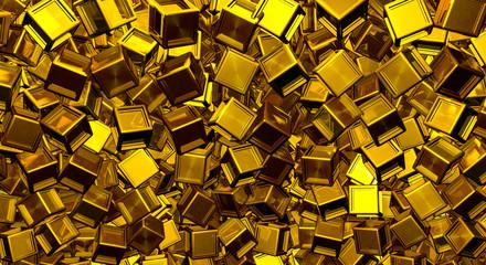 Metallic cubes background