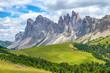 Quadro Odle mountains in the Italian dolomites