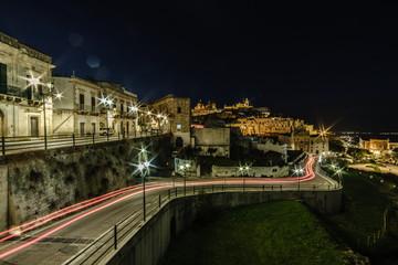 Nachtaufnahme Ostuni, Apulien, Langzeitbelichtung
