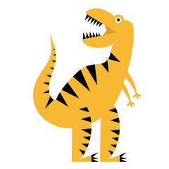 dinosaur flat illustration on white © lkeskinen