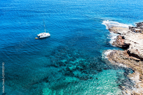 Aerial photo of summer beach and ocean. Gran Canaria island