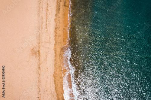 Aerial photo of summer beach and ocean. Gran Canaria island