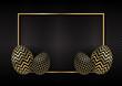 Gold and black Easter egg background