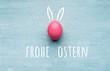 Leinwandbild Motiv Frohe Ostern