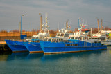 Fishing boats in the port, Poland, Baltic Sea