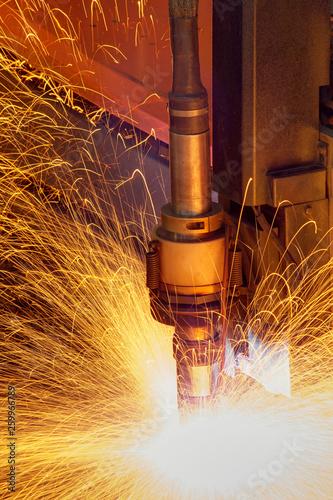 Leinwandbild Motiv Automatic welding machine
