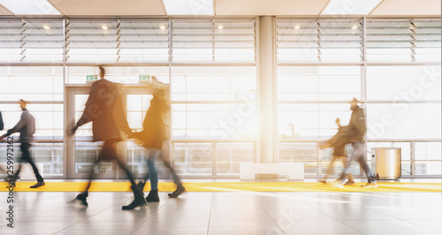 blurred people in a modern hall © rcfotostock