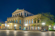 Leinwandbild Motiv Night view of the state opera in Hannover, Germany