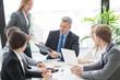 Leinwandbild Motiv Workers at business meeting
