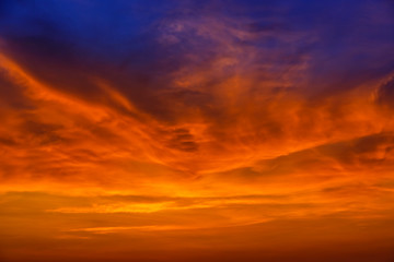 Magic Unreal Colorful Sky at Sunrise
