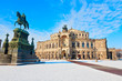 Leinwandbild Motiv Dresdner Semperoper, Deutschland