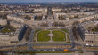 Central Square in Nowa Huta from a bird's eye view, Krakow, Poland
