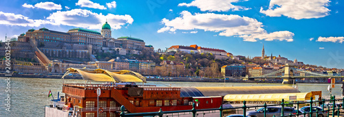 Budapest Danube river historic waterfront architecture springtime view