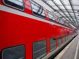Train, railway, train standing on the tracks, an Express train