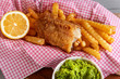 traditional english food shif and chips - 260042785