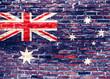 Quadro Flaga Nowej Zelandii - graffiti