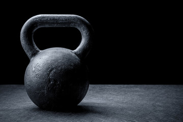 kettlebell on a black background