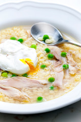poultry soup with egg