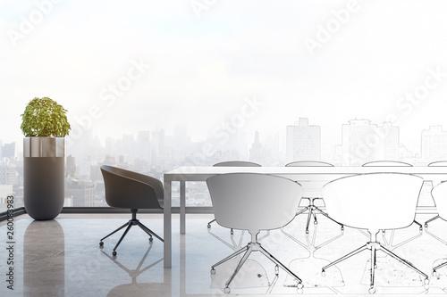 Leinwandbild Motiv Hand drawn conference room