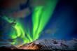 Leinwandbild Motiv Nordlicht am Sternenhimmel