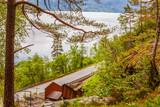 Svandalsfossen area in Norway, Ryfylke route