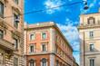 Quadro Architecture in Via del Corso, main street in Rome, Italy