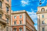 Architecture in Via del Corso, main street in Rome, Italy