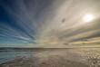 Leinwandbild Motiv Wolkenstimmung über der Nordsee