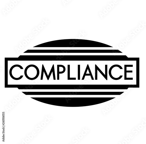 COMPLIANCE stamp on white