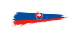 Flag of Slovakia in grunge brush stroke.