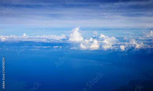 Clouds, a view from airplane window - 260118354