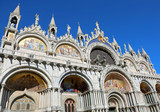 Basilica of Saint Mark in Venice in Italy with the splendid gold