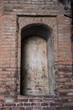 empty niche in wall. (castle San Michelle, Castello Estense, Ferrara, Italy)