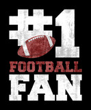 #1 Football Fan graphic