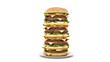 Leinwanddruck Bild - hamburger tower. 3d rendering